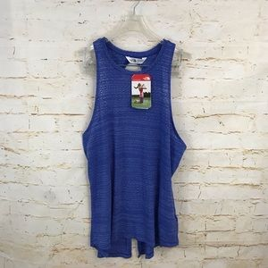 NWT The North Face womens L split back tank top